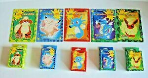 x5 Nintendo Pokemon Mini Puzzles 50 Pieces all 100% complete 1999 Vintage Hasbro