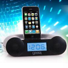 Radiowecker mit Ipod Docking Station und AUX-In Radio Wecker LCD Display schwarz