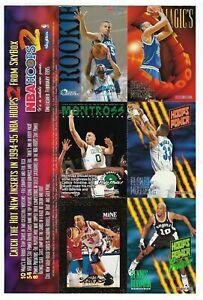 1995 SkyBox  NBA HOOPS 2 Basketball Cards Over Size PROMO Card Sheet.