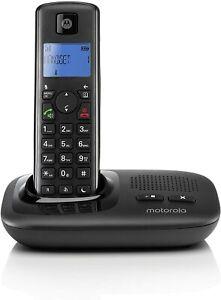 Motorola T412+ Digital Cordless Telephone with Answering Machine, Single & Twin