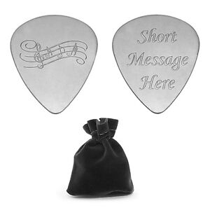 Personalised Plectrum Engraved Guitar Pick with Music Notes Logo Musicians Gift