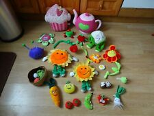 Bundle 25x Plush FOOD & FLOWERS Soft Toys 12 ins High max- Teapot,Cupcake,Banana