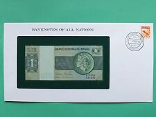 Brazil 1 Real Uncirculated Franklin Mint Banknote Cover SNo46105