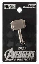 "THOR ""MJOLNIR PEWTER LAPEL PIN"" Marvel Comics Thor Hammer NEW IN PACKAGE"
