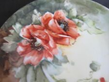 Dish with Large Poppies, 6 3/4 inch diameter, marked Bavaria