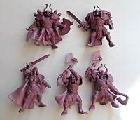 Set of 5 Dark Knights Warriors Plastic Toy Soldier 54mm 1/32 Fantasy Tehnolog