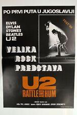 Rattle & Hum U2 B.B. King 1988 Bono Edge Clayton Rare Exyu Movie Poster