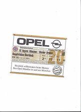 FC BAYERN MÜNCHEN - WERDER BREMEN, 25.10.1997, Sammler Ticket Bundesliga 97/98