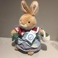 Peter Rabbit Mrs Rabbit Bunny Eden Plush Soft Toy Cuddly Teddy Vintage Large