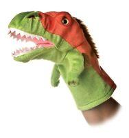 "TYRANNOSAURUS REX T-Rex Dinosaur Hand Puppet, 10"" Tall, by Aurora 32026"