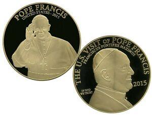 POPE FRANCIS - USA 2015 COMMEMORATIVE COIN VALUE $129.95