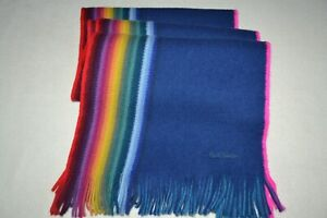 Paul Smith Rainbow Edge Reversable Scarf DR WHO scarf Brand New