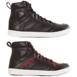 RST URBAN 2 Black Casual Street Motorcycle/Scooter Cowhide Leather Short Boots