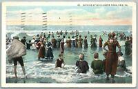 ERIE PA BATHING AT WALDAMEER PARK 1911 ANTIQUE POSTCARD