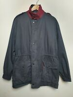 """Mens Vintage Grenfell Navy Coat - Hiking, Shooting, Country - (XL, 44"""" chest)"""