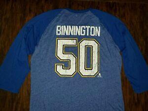 New Mens Fanatics Jordan Binnington St. Louis Blues Hockey Shirt Extra Large XL
