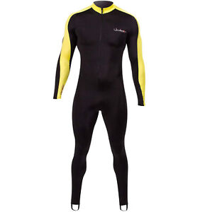 Henderson Lycra Printed Unisex Adults Jumpsuit Scuba Diving Wetsuit-Black XLarge