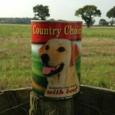 24 x 400g Tins Country Choice Tinned Wet Dog Food Complete Balanced - Beef