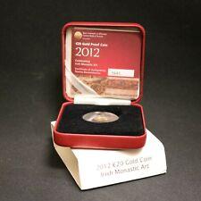 Ireland 2012 Gold 20 Euro Irish Monastic Art Proof with Box & certificate