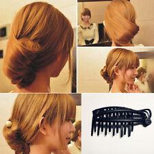 Femme Barrette Épingle Pince Bob Cheveux Peigne Coiffure Twist Chignon Élégant