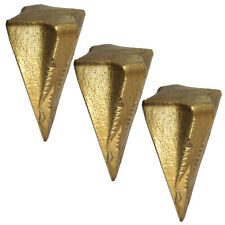 3x Spaltgranate Spaltkeil Holzspaltkeil Holzspalter Stahl Spaltwerkzeug Holz