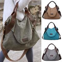 Women Canvas Handbag Shoulder Bags Large Capacity Tote Travel Messenger Hobo Bag