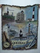 New Mill Street Design Long Island Lighthouse Tapestry Throw Blanket Afghan #305
