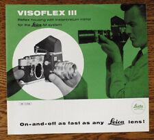 Leica Leitz Visoflex Iii attachment sales brochure booklet