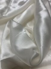 """20Mommy 100% Mulberry Silk CREPE BASE SATIN FABRIC  Sold By The Yard X 45"""" CREAM"""