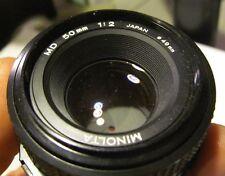 Minolta MD 50mm f/2 Lens X-700 X-370 X-570 SRT202 201 101 XD11 XD5