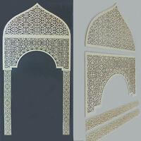 Dekorpaneele Laserschnitt - Set Tor mit Ornament Slimania - Sperrholz 3mm Wand