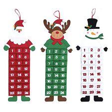 Large Felt Christmas Advent Calendar with Pockets (Santa, Reindeer or Snowman)
