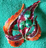 Vintage Exquisite Autumn Colours Flower Pin Brooch