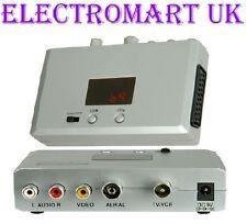 Modulatore RF convertire SCART o Phono per Antenna Cavo Coassiale RF
