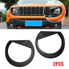 Fit For Jeep Renegade 2016-18 Carbon Fiber Look Headlight Cover Car Accessories