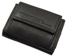 Mini de cuero bolsa monedero monedero Cartera con mapas especializada negro nuevo