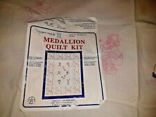 Needle Art Sports Quilt Top Embroidery Kit Started 45 x 63