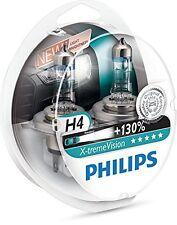2 x Bombillas Philips X-Treme Vision H4 130% Extreme Xtreme Faros Halogeno Coche