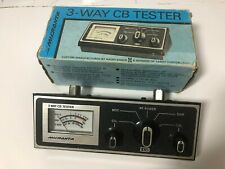 Micronta 21-526A 3-Way Cb Tester 10W 3-30Mhz w/ Orig Box & Manual