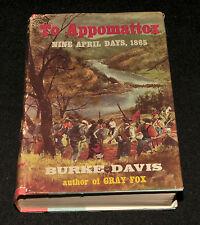 To Appomattox, Burke Davis - 1959 Book