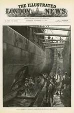 1886 Antique Print - HAMPSHIRE PORTSMOUTH TORPEDO EXPERIMENT HMS RESISTANCE (273