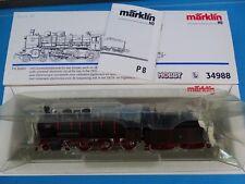 Marklin 34988 KPEV Locomotive with Tender Br P 8  Olivegreen-Black    DELTA