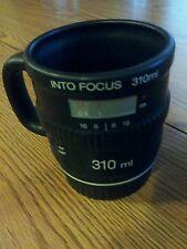 Into focus camera lens 310ml photography Christmas present Bitten ceramic coffee