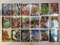 1995 Fleer Ultra X-Men Chrome Cards near complete cards #10-108
