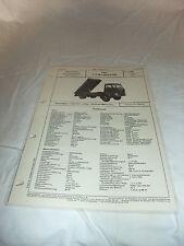 Werbung Reklame VDA-Typenblatt Oldtimer LKW BÜSSING Kipper TYP Burglöwe UK 1966