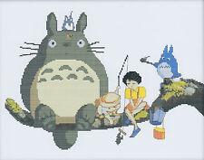 Totoro (2) 14CT counted cross stitch kit, 44cm x 37cm fabric. CSK0050