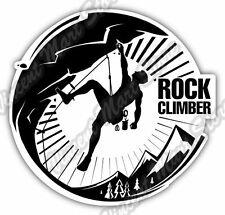 "Rock Climber Climbing Mountain Camp Car Bumper Window Vinyl Sticker Decal 4.6"""