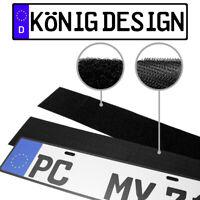 1 x Kennzeichenhalter Klett Nummernschildhalter Rahmenlos Kennzeichenhalterung