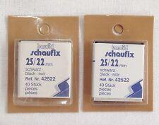 Hawid Black Stamp Mounts 25/22 mm 2 Packs 40 Per Pack Back Opening (m4)