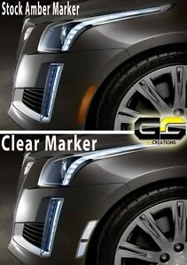 2014 2015 2016 2017 2018 2019 Cadillac CTS CLEAR Side Markers  / Sidemarker
